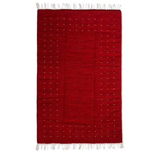 NOVICA 251260 Fire in The Sky' (4x6) Zapotec Wool Rug, for sale  Delivered anywhere in USA