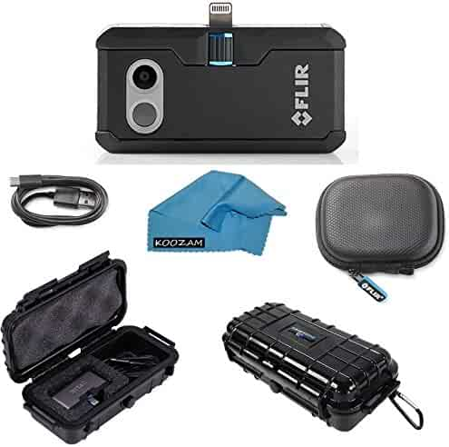 FLIR ONE Pro Thermal Imaging Camera Apple iOS ONLY Bundle with Rugged Waterproof Case and Cleaning Cloth