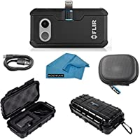 FLIR ONE Pro Thermal Imaging Camera Apple IOS Bundle With Rugged Waterproof Case and Cleaning Cloth