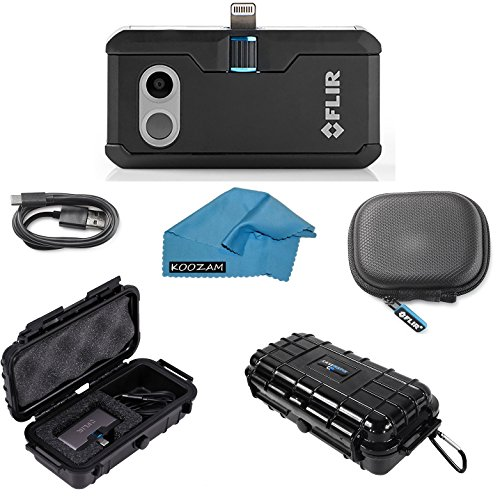 FLIR ONE Pro Thermal Imaging Camera Apple IOS ONLY Bundle With Rugged Waterproof Case and Cleaning Cloth (NOT ANDROID)