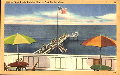 Pier At Oak Bluffs Bathing Beach Oak Bluffs, Massachusetts Original Vintage - Shops Pier At The