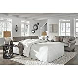 Ashley Furniture Signature Design - Olsberg Traditional Queen Sofa  with Nailhead Trim - Accent Pillows Included - Steel