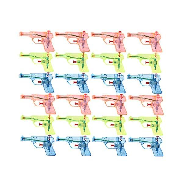 Toyvian 24pcs Trasparente Piccola Pistola ad Acqua per Bambini Giocattoli Acqua Schizzi Grandi Giocattoli Estivi (Colore… 1 spesavip