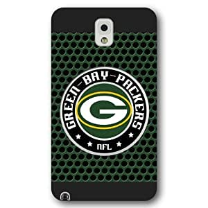 UniqueBox Customized NFL Series Case for Samsung Galaxy Note 3, NFL Team Green Bay Packers Logo Samsung Galaxy Note 3 Case, Only Fit for Samsung Galaxy Note 3 (Black Frosted Shell)