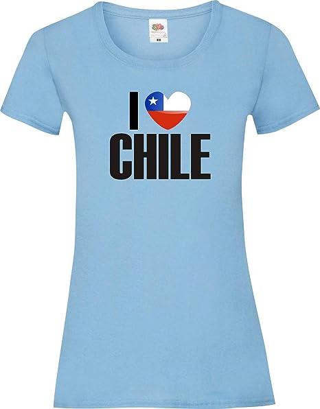 Shirtinstyle Camisa de la señora WM Camiseta de país I love ...