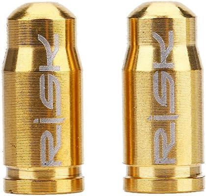 2pcs Tapas de Válvula Bicicleta Aleación de Titanio (Color : Oro ...