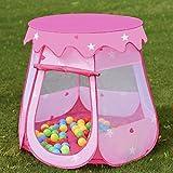 COSTWAY Kids Princess Play Tent Playhouse w/ 100 Ocean Balls - Pink