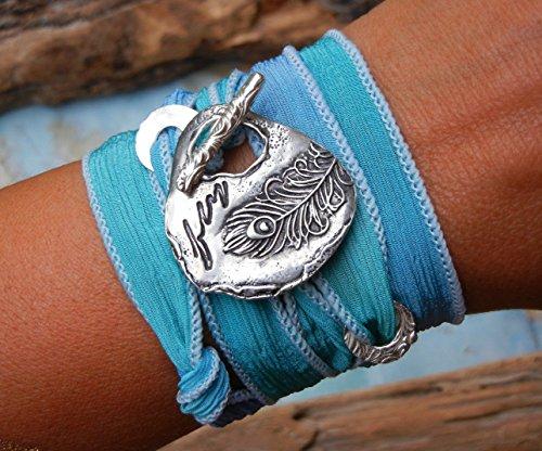 Inspirational Jewelry, Silk Wrap Bracelet