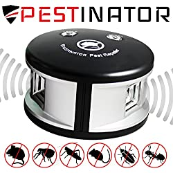 Pestinator 360 degree Ultrasonic Pest Repeller | Indoor Insect and Bug Repellant | Repel Mice, Rats, Roaches, Fleas, Crickets, Ants | Cruelty-Free Plug In | Home, Child, Pet Safe