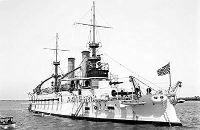 "1901 USS Kentucky Vintage Photograph 11"" x 17"" Reprint"