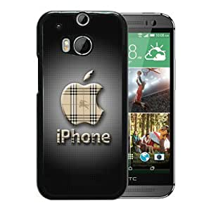 HTC ONE M8 Case,Burberry 48 Black HTC ONE M8 Screen Cover Case Charming and Elegant Design