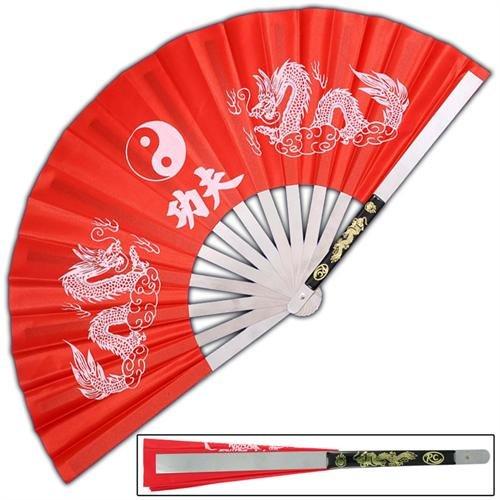 Armory Replicas Tessen-Jutsu Iron Fan Weapon Dragon Red (Armory Replicas Weapons)