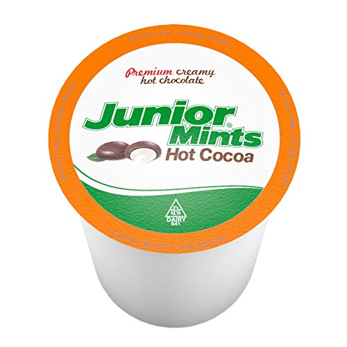 Single Serving Hot Chocolate - Junior Mint Chocolate Mint Single-Cup Hot Cocoa for Keurig K-Cup Brewers, 40 Count