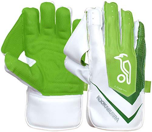 KOOKABURRA Boys' 2020 LC 5.0 Wicket Keeping Gloves-Junior, White/Green