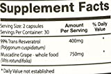 Perfect Resgrape Resveratrol 3 bottles - 99 Trans-resveratrol Whole Food Muscadine Grapes Discount