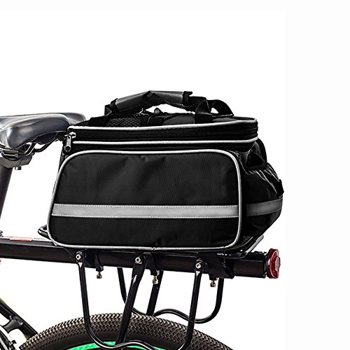 ier Outdoor Waterproof Multi- Function Portable Bicycle Pack Bike Pannier Rack Panniers Rear Seat Trunk Bag (Black) ()