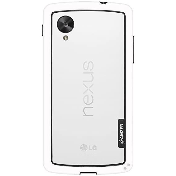 new product 6b8b3 36855 Amzer Border Case Cover for LG Nexus 5 D820/Google Nexus 5 D820 - Retail  Packaging - White