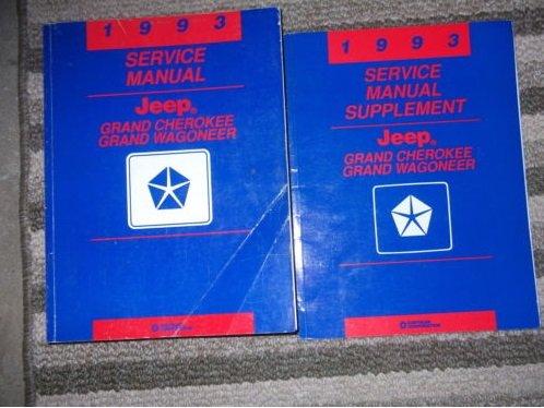1993 Jeep Grand Cherokee & Grand Wagoneer Repair Shop Manual Original