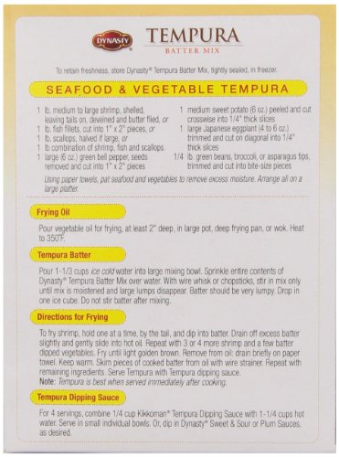 Dynasty Batter Mix Tempura, 8-Ounce (Pack of 6) by DYNASTY (Image #4)