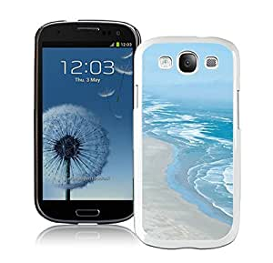 Elegant Samsung Galaxy S3 Case Durable Soft Silicone TPU Beautiful Beaches Coastline White Cell Phone Case Cover Protector