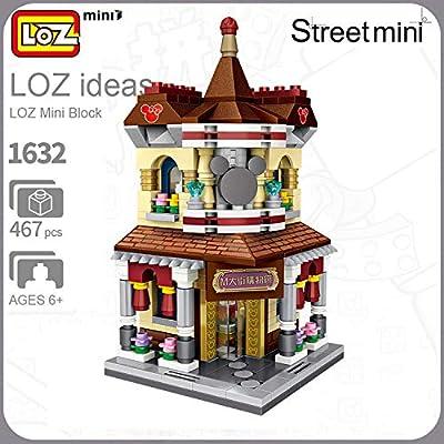LOZ M Shopping Mall Store Street China Town Mini Series NO.1632 Mini Building Micro Blocks Compatible Nano Brick Headz Chistmas/Bithday Gifts for Kids DIY Figures Assemble Educational Toys Model Kits: Toys & Games