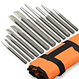 Neiko 02623A Heavy Duty Cold Chisel and Punch Set, 12 Piece, Carrying Pouch Included