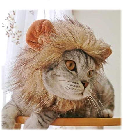 Pywee Lindo Disfraz de Mascota Cosplay león Melena Peluca Sombrero ...