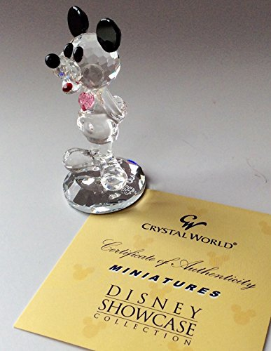 Crystal World Figurine Rare DISNEY SHOWCASE Birthstone Mickey Miniature Series JUNE