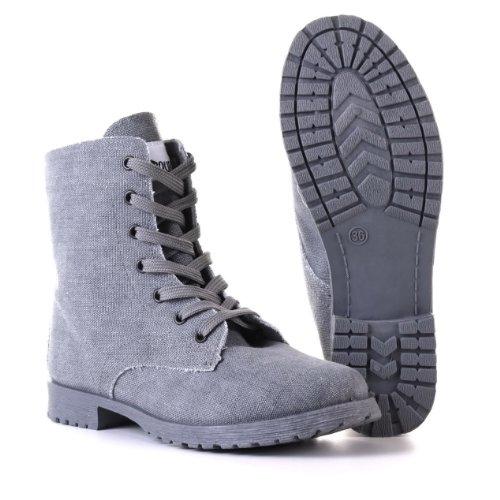 Design Ital Botas para gris mujer vzdz1w