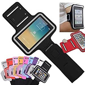 SOL Slim PU Leather Sporty Armband with Key Holder for iPhone 6 (Assorted Colors) , Purple