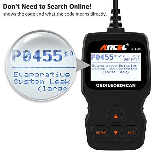 ANCEL AD310 Classic Enhanced Universal OBD II Scanner Car Engine Fault Code Reader CAN Diagnostic Scan Tool-Black by ANCEL (Image #4)