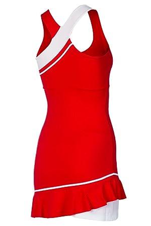 Naffta VT741 - Vestido para Mujer, Color Rojo/Blanco, Talla ...