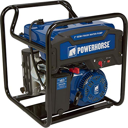 (Powerhorse Extended Run Semi-Trash Water Pump - 2in. Ports, 7,860 GPH, 212cc OHV Engine, 5/8in. Solids Capacity, Model# DS20)