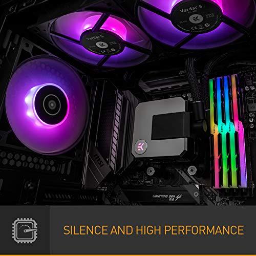 Enfriador líquido de CPU todo en uno EK AIO Elite 360 mm D-RGB con ventiladores PMW de alto rendimiento EK-Vardar, piezas de computadora de refrigeración por agua, ventilador de 120 mm, Intel 115X / 1200/2066, AMD AM4
