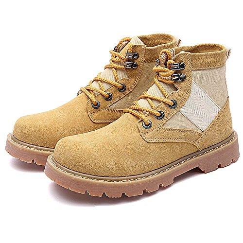 Scarpe casual maschile vestito alpinismo autunno all'aperto [fondo morbido] stivali slip on marrone-nero-giallo Lunghezza piede=40EU