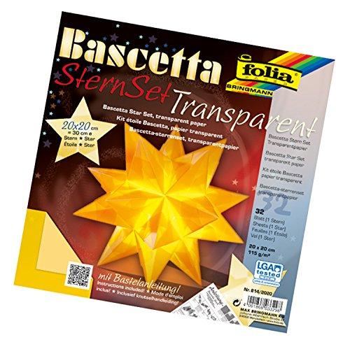 Folia Bringmann Bascetta Star Set Transparent 20 x 20 cm / 30 cm (Best Kreative Kids Kids Costumes)