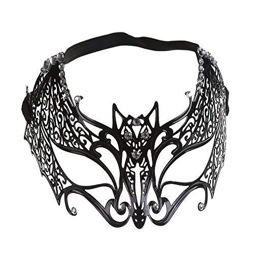 KTYX Diamond Ball Half Face Mask Makeup Cosplay Prop Metal Iron Princess Bat Eye Mask mask -