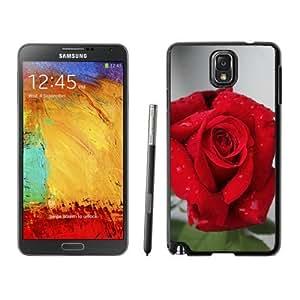 NEW Unique Custom Designed Samsung Galaxy Note 3 N900A N900V N900P N900T Phone Case With Red Rose Closeup_Black Phone Case