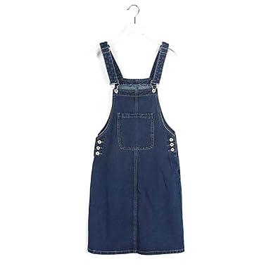 Factory Outlets neu kommen an beliebt kaufen 5 ALL Damen Jeanskleid Ärmellos Elegant Vintage Sling Denim ...