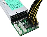 BUYMINERS.CA Breakout Board Adapter for HP 1200W/750W Server PSU + 12pcs 16AWG PCIe 6 pin to 6+2 pin Cables (40cm) for GPU Mining ETH ZEC