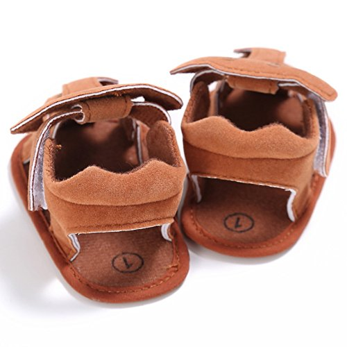 Sandalias De Bebe,BOBORA Prewalker Zapatos Primeros Pasos Para Bebe Lindo Pequeno Elefante Hueco Sandalias De Ocio Para Bebes marron