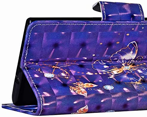 Herbests Kompatibel mit Samsung Galaxy A6 Plus 2018 Hülle Klapphülle Leder Flip Schutzhülle Wallet Handyhülle Bunt Bling Glänzend Glitzer Muster Brieftasche Handytasche Case,Süß Katze