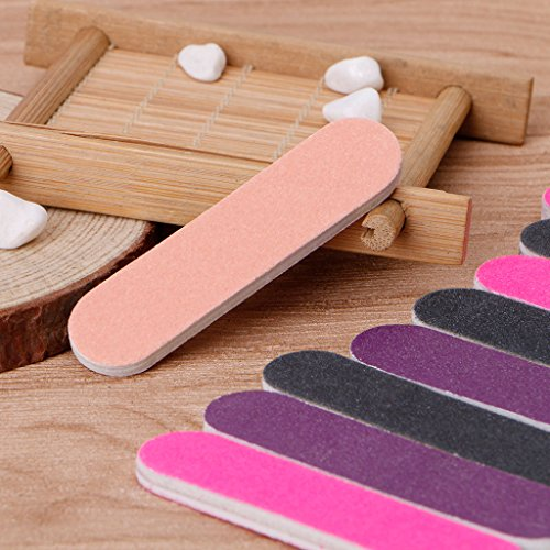 Milue Nail Files Sandpaper Round Double Side Nail Art Tips Manicure For Salon Home Use by Milue (Image #7)