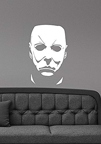 (A Good Decals USA Michael Myers Wall Decal Halloween Movie Character Vinyl Sticker Friday the 13th Scary Art Decorations for Home Room Bedroom Horror Decor)