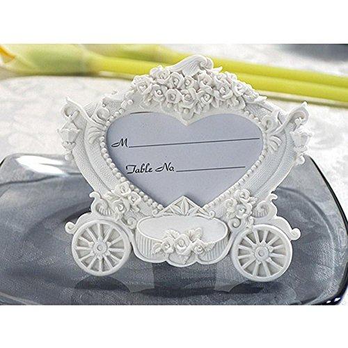 Enchanting wedding coach photo frame