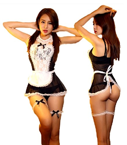 SPJ: Sexy Maid Waitress Cosplay Naughty Cute Fancy Dress Lingerie Costume (Good Costumes For Couples)