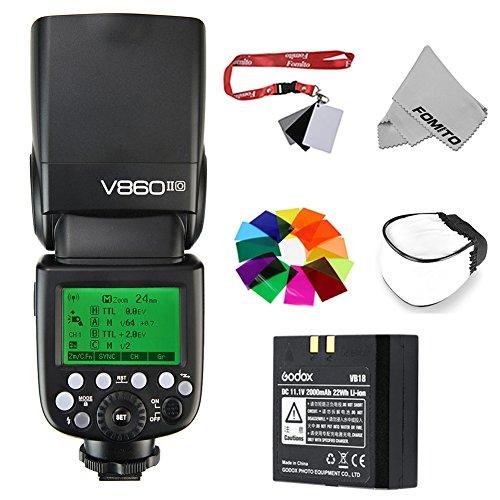 Fomito Godox V860IIO 2.4G GN60 TTL HSS 1/8000s Li-on Battery Camera Flash Speedlite for Olympus E-M10II E-M5II E-M1 E-PL8 E-PL7 E-PL6 E-PL5 E-P5 E-P3 PEN-F Panasonic DMC-GX85 DMC-G7 DMC-GF1