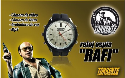 Reloj ESPIA con MP3 Torrente Rafi 1280x720 HD, Camara Fotos video y grabacion de voz: Amazon.es: Bricolaje y herramientas