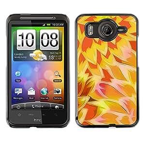 TopCaseStore / la caja del caucho duro de la cubierta de protección de la piel - Sun Yellow Orange Pattern - HTC G10