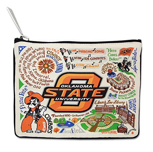 Catstudio Oklahoma State University Zip Pouch | Use as Wallet, Clutch, Handbag Makeup Bag
